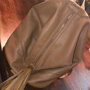 Like new Rampage camel leather backpack